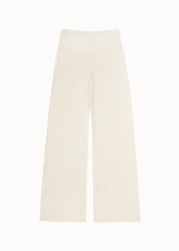 SOFT KNIT PANTS | WHITE