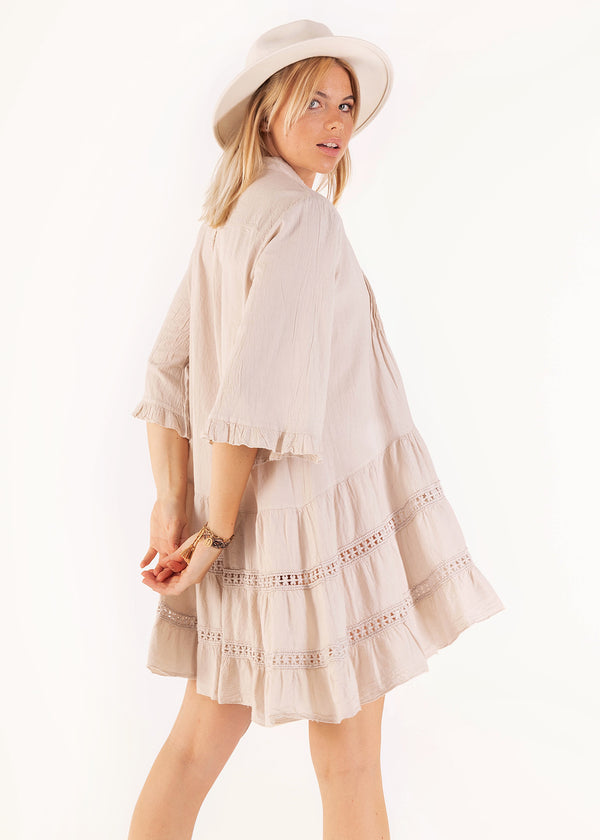 SUMMER BREEZE DRESS  | BEIGE