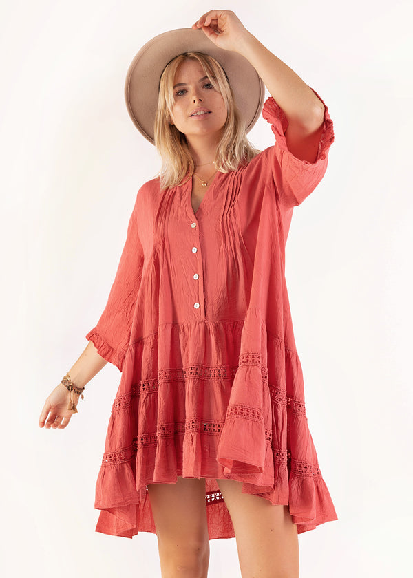SUMMER BREEZE DRESS | ROSE