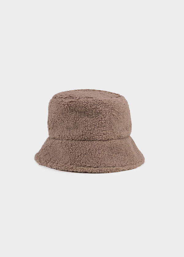 TEDDY BUCKET HAT | TAUPE