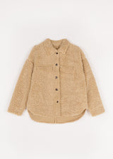 TEDDY COZY OVERSHIRT | BEIGE