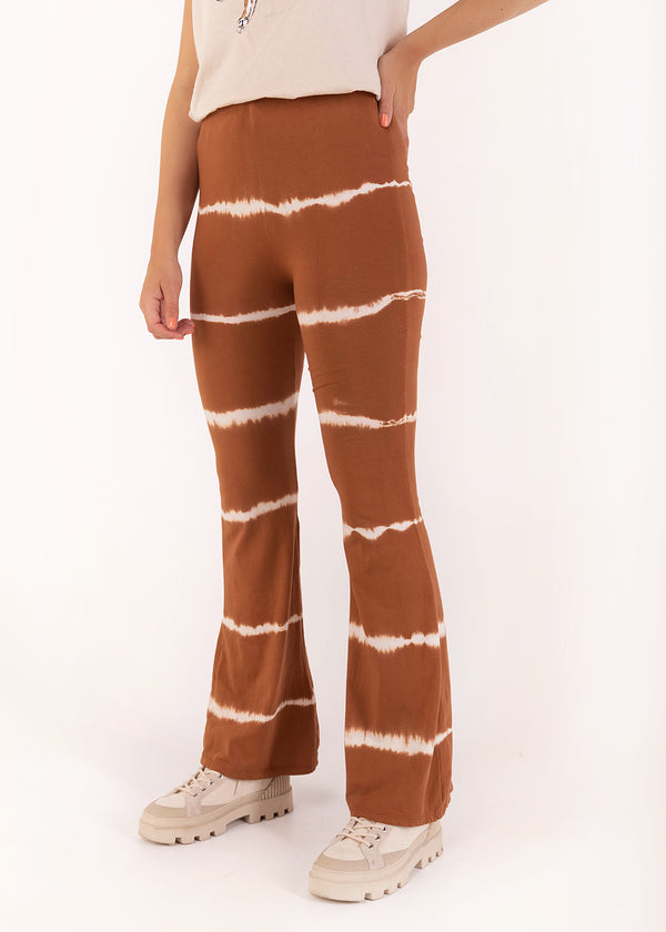 TIE DYE FLARED | CAMEL BROWN