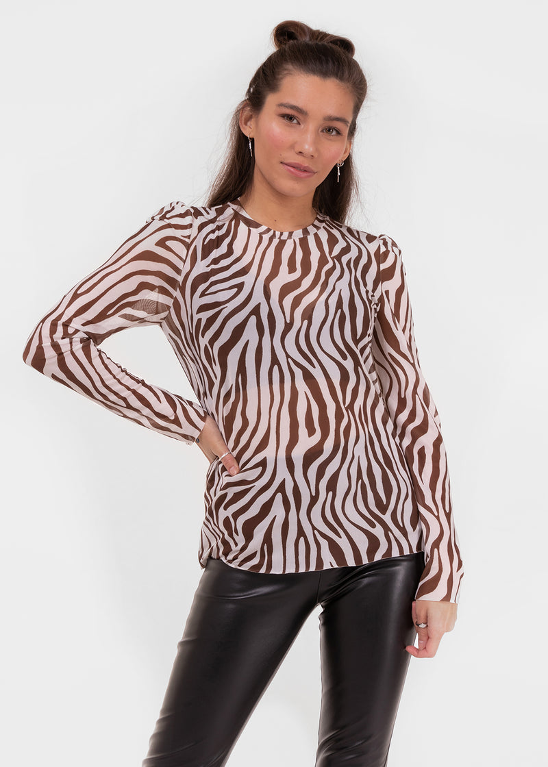 WILD MESH TOP | BROWN