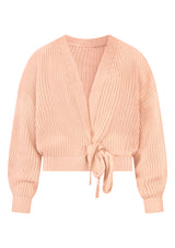 PEACH WRAP CARDIGAN