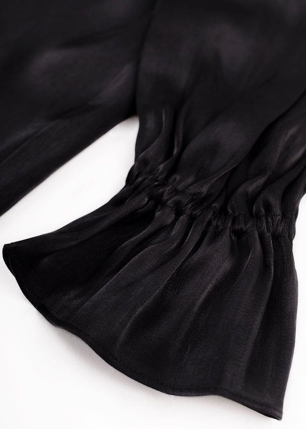 SATIN SHIRT | BLACK