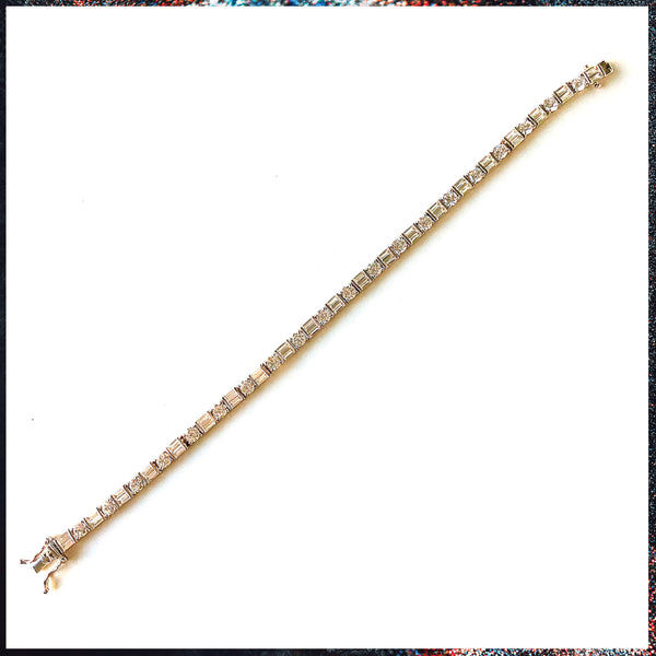 Drip Barre Jewelry Princess Cut & Round Drip Queen Anklet