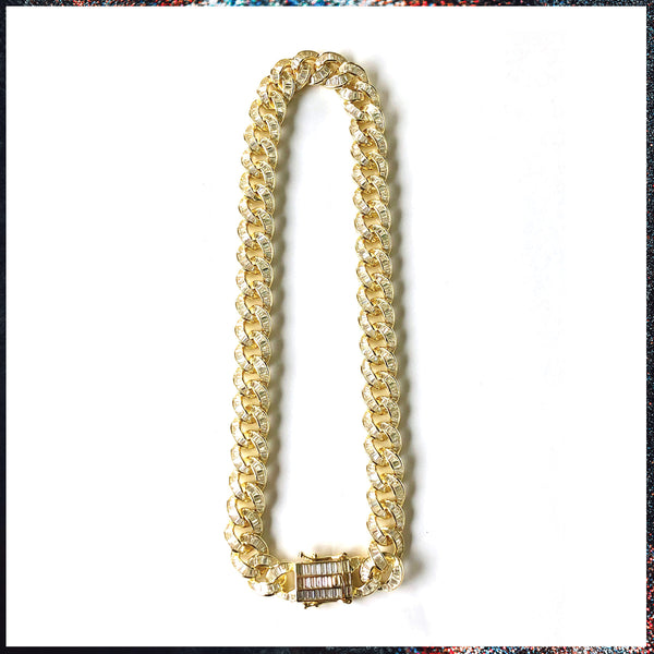 Drip Barre Jewelry Baguettes to the Face Cuban Link Necklace