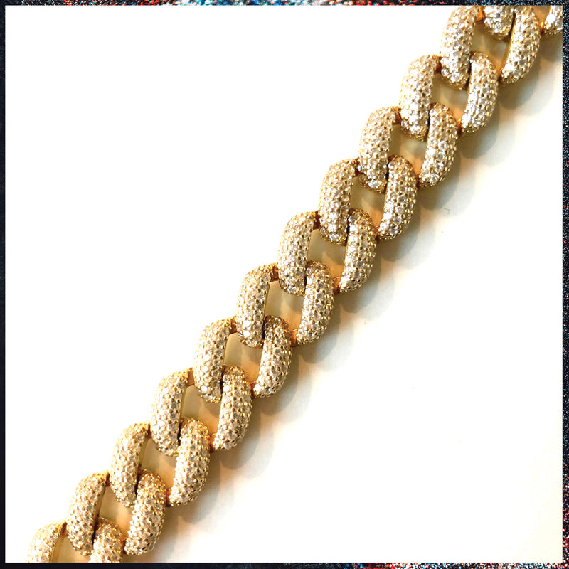 Drip Barre Jewelry Baby Iced Out Cuban Link Bracelet