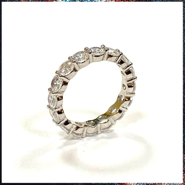 Drip Barre Jewelry Dainty Round Cut Eternity Band