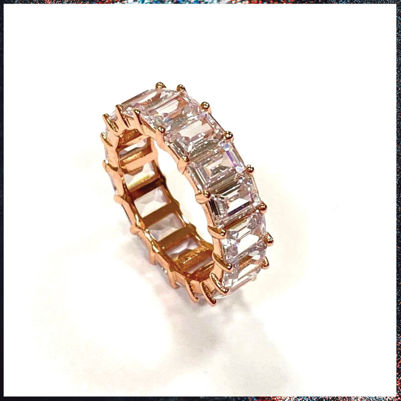 Drip Barre Jewelry Venti Emerald Cut Eternity Band