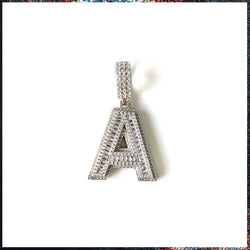 Drip Barre Jewelry Baguette My Name Initial Pendant