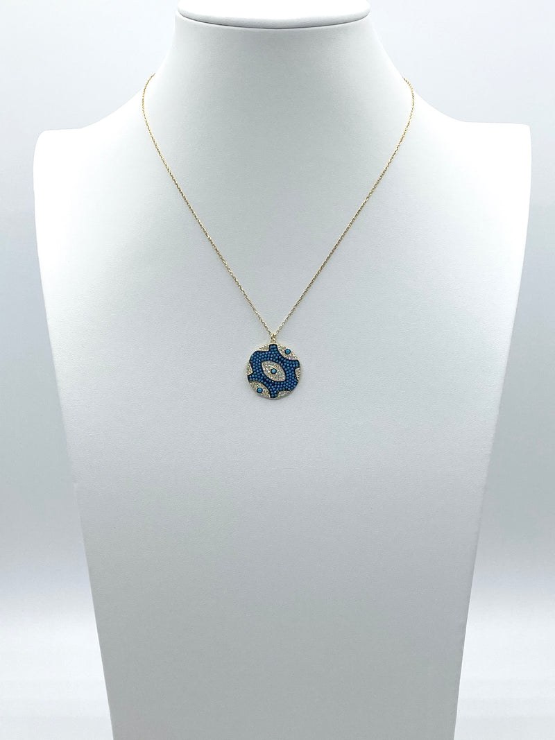Round Me Up Evil Eye Necklace