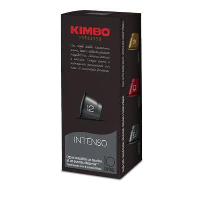 Kimbo Coffee Capsules (NESPRESSO Compatible) pack of 10 capsules.