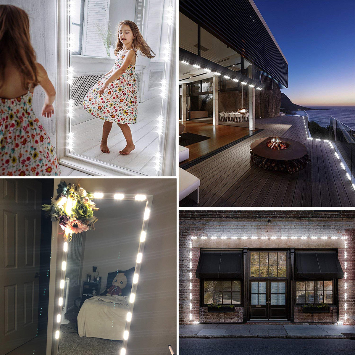 Diy Hollywood Style Led Vanity Mirror Lights Kit Dimmable Lighting 10 Ygs Tech