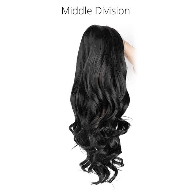 Long Wavy Synthetic Hair Wigs in Black and other Colors