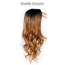 Load image into Gallery viewer, Ombre Long Wavy Blonde-Gray-White-Black-Red-Brown Wigs