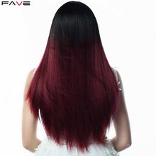 Load image into Gallery viewer, Silk Straight Long Black Synthetic Natural and other Color Wigs