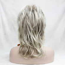 Load image into Gallery viewer, Blonde With Dark Root Medium Length Cascaded Layers Synthetic Hair FWig