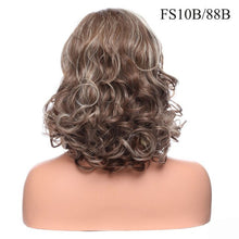 Load image into Gallery viewer, Curly Synthetic natural hairline Layered hair style wig