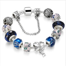 Load image into Gallery viewer, Blue Amulets Bracelet (Mother son) High Quality Glass Beads