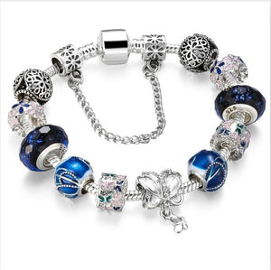 Blue Amulets Bracelet (Mother son) High Quality Glass Beads