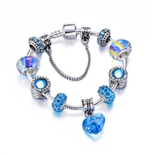 Load image into Gallery viewer, Silver Charm Blue Beads  Bracelet