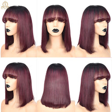 Load image into Gallery viewer, Lace Front Short Bob Straight Human Hair Wigs