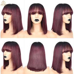 Lace Front Short Bob Straight Human Hair Wigs