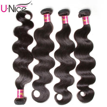Load image into Gallery viewer, Peruvian Body Wave Hair Bundles 100% Human Hair Extensions 8-30inch Remy Hair Weaving Natural Color 1 Piece