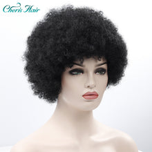 Load image into Gallery viewer, Synthetic Soft Fiber 12 Inch Bulk Hair Black Wig