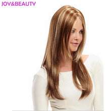 Load image into Gallery viewer, Long Wavy Wig Synthetic Hair Brown Blonde Mix 24inch Long