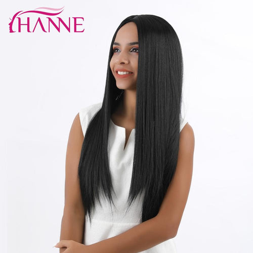Long Straight Synthetic Wigs 20 inches Black Wig also available in other colors