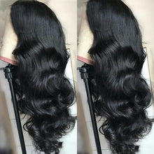 Load image into Gallery viewer, Lace Front Human Hair 13X4 Pre Plucked Non Remy Brazilian Body Wave Wig