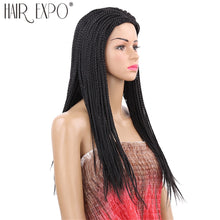 Load image into Gallery viewer, 22inch Long Box Braid Synthetic Micro Twist Braid Wigs