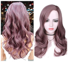 Load image into Gallery viewer, Black Ash Light Brown Blonde Synthetic Wigs