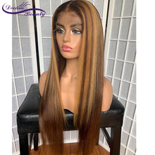 Load image into Gallery viewer, 13x6 Blonde Lace Front Brazilian Straight Remy Human Hair Wigs