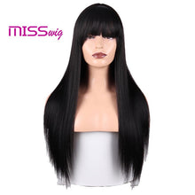 Load image into Gallery viewer, Synthetic Hair Long Straight Black Blonde Red Wigs
