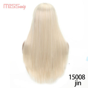 Synthetic Hair Long Straight Black Blonde Red Wigs