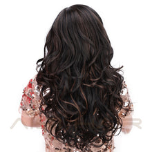 Load image into Gallery viewer, Long Wavy Natural Hair Wig Mixed Dark Brown Synthetic Wigs