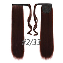 "Load image into Gallery viewer, Straight Clip In Hair Tail 24"" 120g Ponytail Hairpiece With Hairpins Synthetic"
