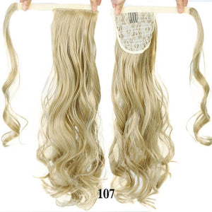 "Straight Clip In Hair Tail 24"" 120g Ponytail Hairpiece With Hairpins Synthetic"