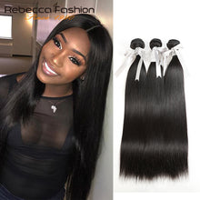 Load image into Gallery viewer, Bundles Deals 100% Straight Human Hair Bundles 8 to 28 Inch Remy Hair Extensions