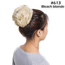 Load image into Gallery viewer, Curly Updo Cover Donut Chignon Synthetic Hair Drawstring Ponytail
