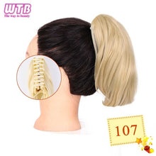 Load image into Gallery viewer, Short Straight Claw Drawstring Ponytail Natural Synthetic Hair Claw