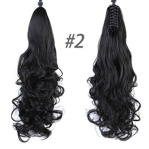 Synthetic Wavy Curly Claw on Clip available in many colors