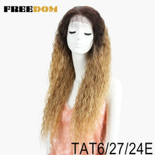 "Load image into Gallery viewer, Kinky Curly 30"" Long Lace Front With Baby Hair Synthetic Hair Wigs"