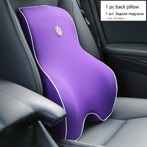 Car Cushion Seat Lumbar Support Office Chair Low Back Pain Pillow Memory Foam