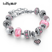 Load image into Gallery viewer, Flower Beads Charm Bracelet