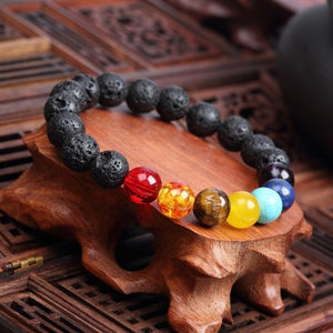 Natural Stone Love Purple Bead Bracelet