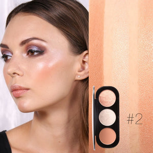 FOCALLURE 3 Colors Blush&Highlighter